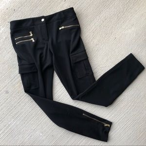 Express•Black Pants With Gold Zippers